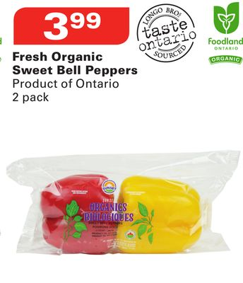 Fresh Organic Sweet Bell Peppers