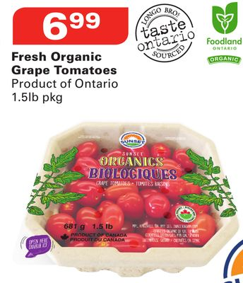 Sunset Fresh Organic Grape Tomatoes