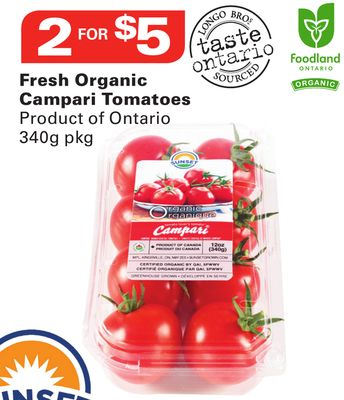 Sunset Fresh Organic Campari Tomatoes