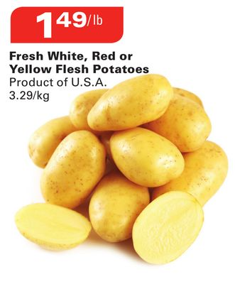 Fresh White - Red or Yellow Flesh Potatoes