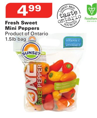 Sunset Fresh Sweet Mini Peppers