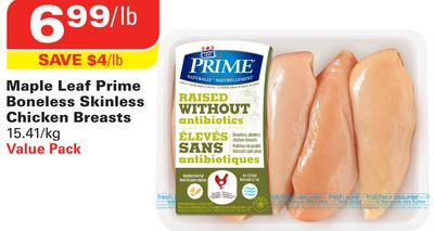 Maple Leaf Prime Boneless Skinless Chicken Breasts