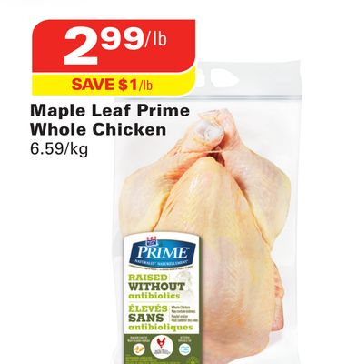 Maple Leaf Prime Whole Chicken