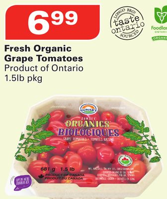 Fresh Organic Grape Tomatoes