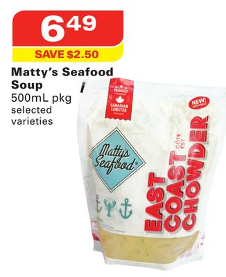 Matty's Seafood Soup