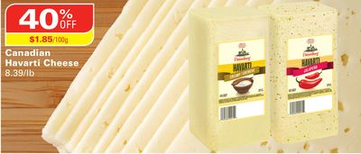 Canadian Havarti Cheese