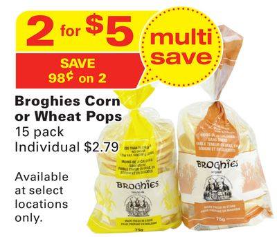 Broghies Corn or Wheat Pops
