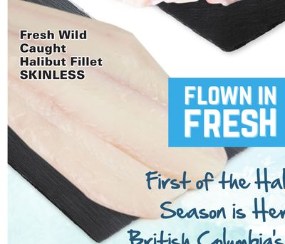 Fresh Wild Caught Skinless Halibut Fillet