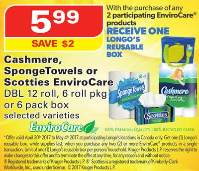Cashmere - Spongetowels or Scotties Envirocare