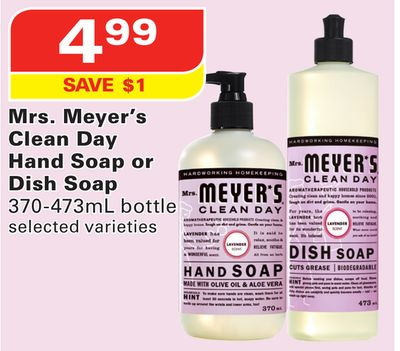 Mrs. Meyer's Clean Day Hand Soap or Dish Soap