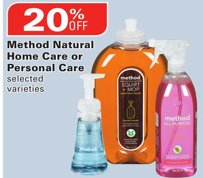 Method Natural Home Care or Personal Care