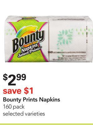 Bounty Prints Napkins