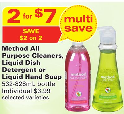 Method All Purpose Cleaners - Liquid Dish Detergent or Liquid Hand Soap