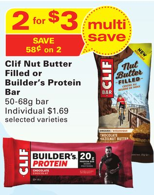 Clif Nut Butter Filled or Builder's Protein Bar