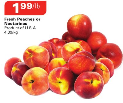 Fresh Peaches or Nectarines