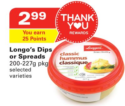 Longo's Dips or Spreads