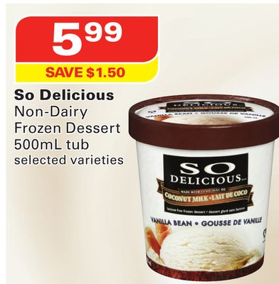 So Delicious Non-dairy Frozen Dessert