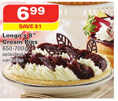 Longo's 8'' Cream Pies