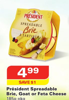 Président Spreadable Brie - Goat or Feta Cheese