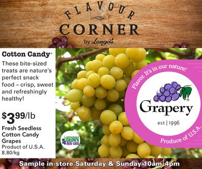 Fresh Seedless Cotton Candy Grapes