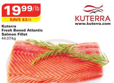 Kuterra Fresh Boned Atlantic Salmon Fillet