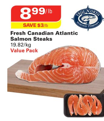 Fresh Canadian Atlantic Salmon Steaks