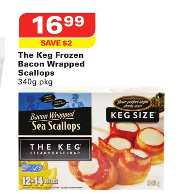 The Keg Frozen Bacon Wrapped Scallops