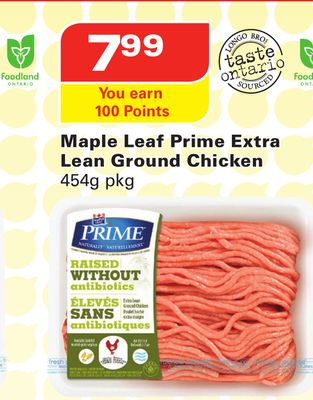 Maple Leaf Prime Extra Lean Ground Chicken