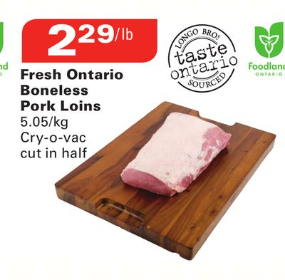 Fresh Ontario Boneless Pork Loins