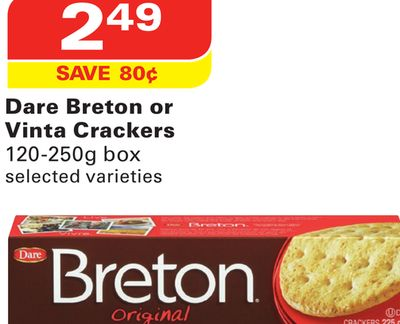 Dare Breton or Vinta Crackers