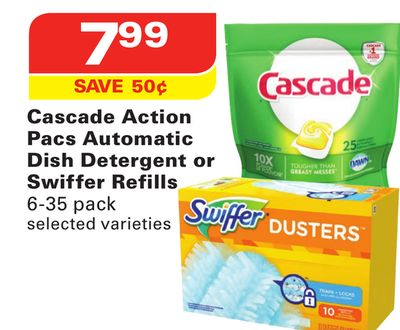 Cascade Action Pacs Automatic Dish Detergent or Swiffer Refills