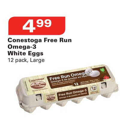 Conestoga Free Run Omega-3 White Eggs