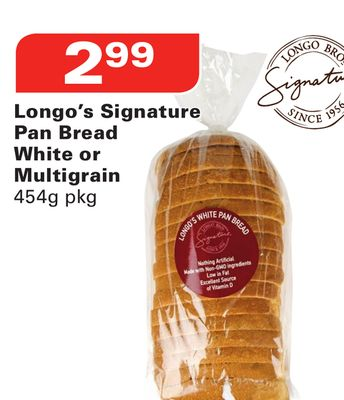 Longo's Signature Pan Bread White or Multigrain
