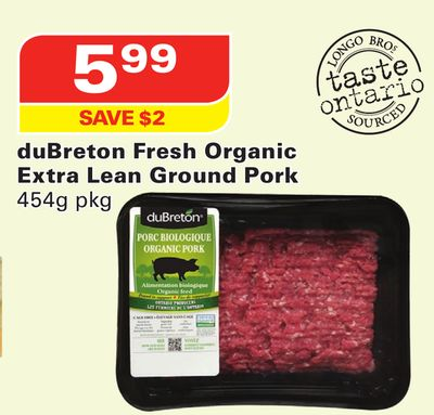 Dubreton Fresh Organic Extra Lean Ground Pork