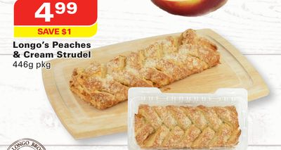 Longo's Peaches & Cream Strudel