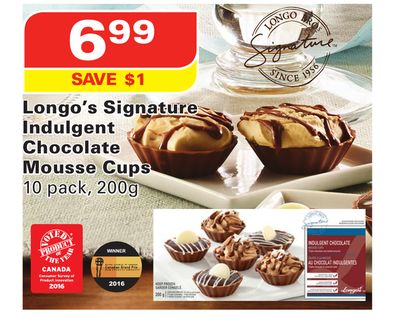 Longo's Signature Indulgent Chocolate Mousse Cups