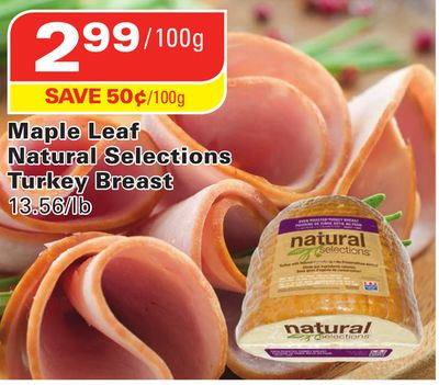 Maple Leaf Natural Selections Turkey Breast