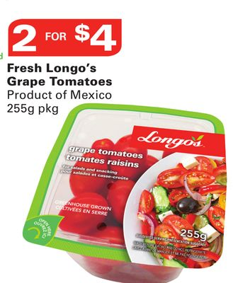 Fresh Longo's Grape Tomatoes