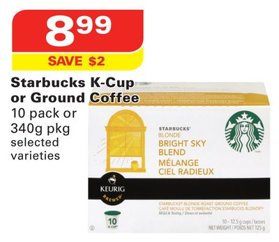 Starbucks K-cup or Ground Coffee