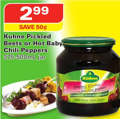 Kuhne Pickled Beets or Hot Baby Chili Peppers