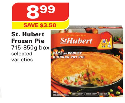 St. Hubert Frozen Pie