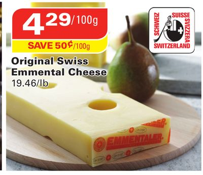 Original Swiss Emmental Cheese