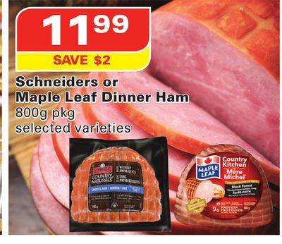 Schneiders or Maple Leaf Dinner Ham