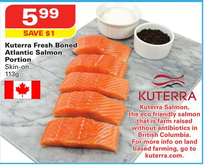 Kuterra Fresh Boned Atlantic Salmon Portion