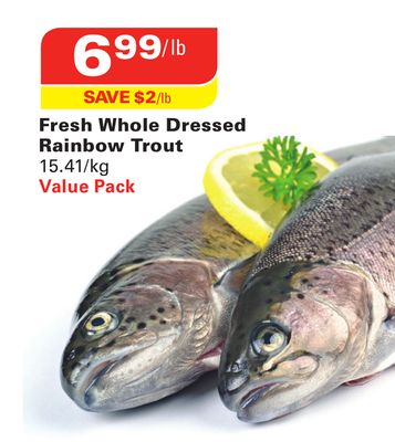 Fresh Whole Dressed Rainbow Trout
