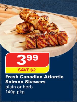 Fresh Canadian Atlantic Salmon Skewers