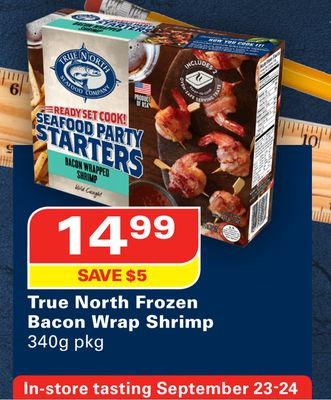 True North Frozen Bacon Wrap Shrimp