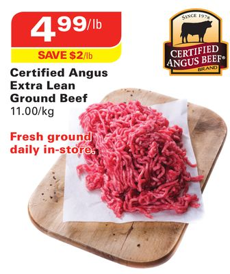 Certified Angus Beef Certified Angus Extra Lean Ground Beef