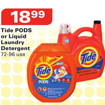 Tide PODS or Liquid Laundry Detergent