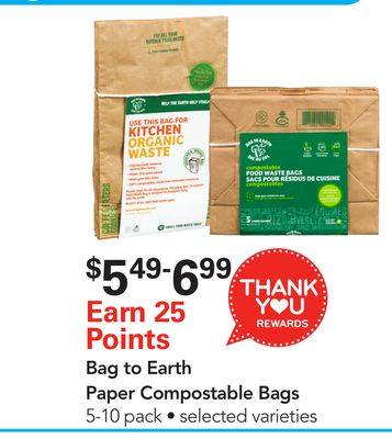 Bag To Earth Paper Compostable Bags